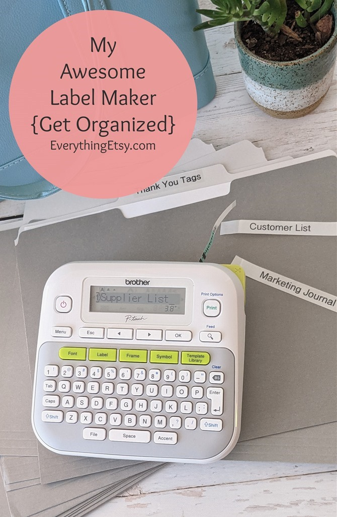 My Awesome Label Maker - Get Organized - Etsy Business Goodness on EverythingEtsy.com