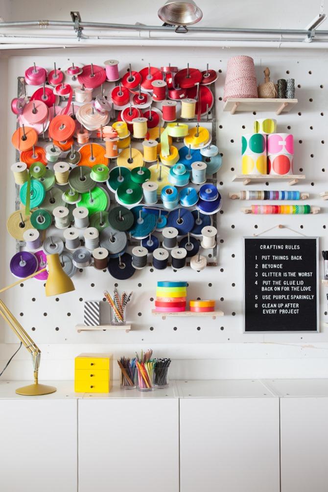 craft room organization - oh happy day