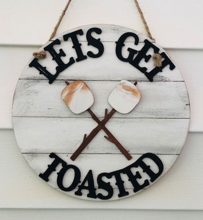 let's get toasted diy sign - Rag Crazy - Everything Etsy