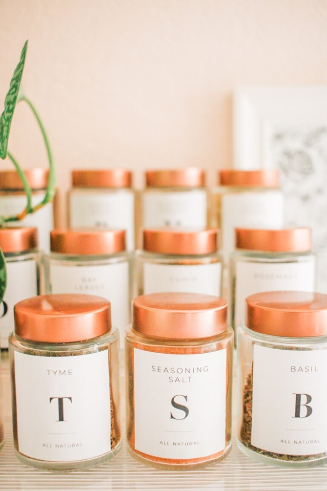 10 Free Printable Labels to Organize Your Home - Everything Etsy - Spice Labels