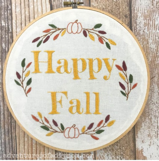 5 Free Fall Embroidery Patterns - Happy Fall - Everything Etsy