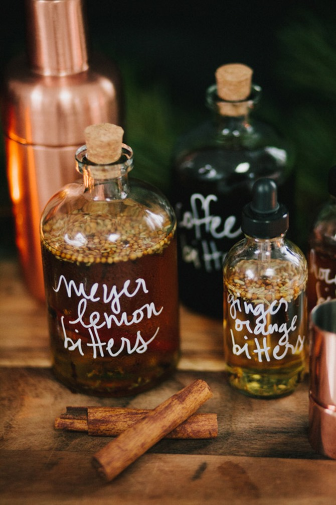 Boozy Handmade Gifts - DIY Bitters for Cocktails