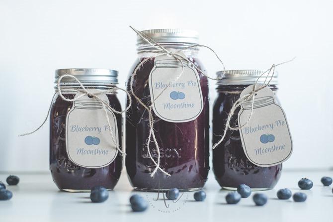 Boozy Handmade Gifts - DIY Blueberry Moonshine