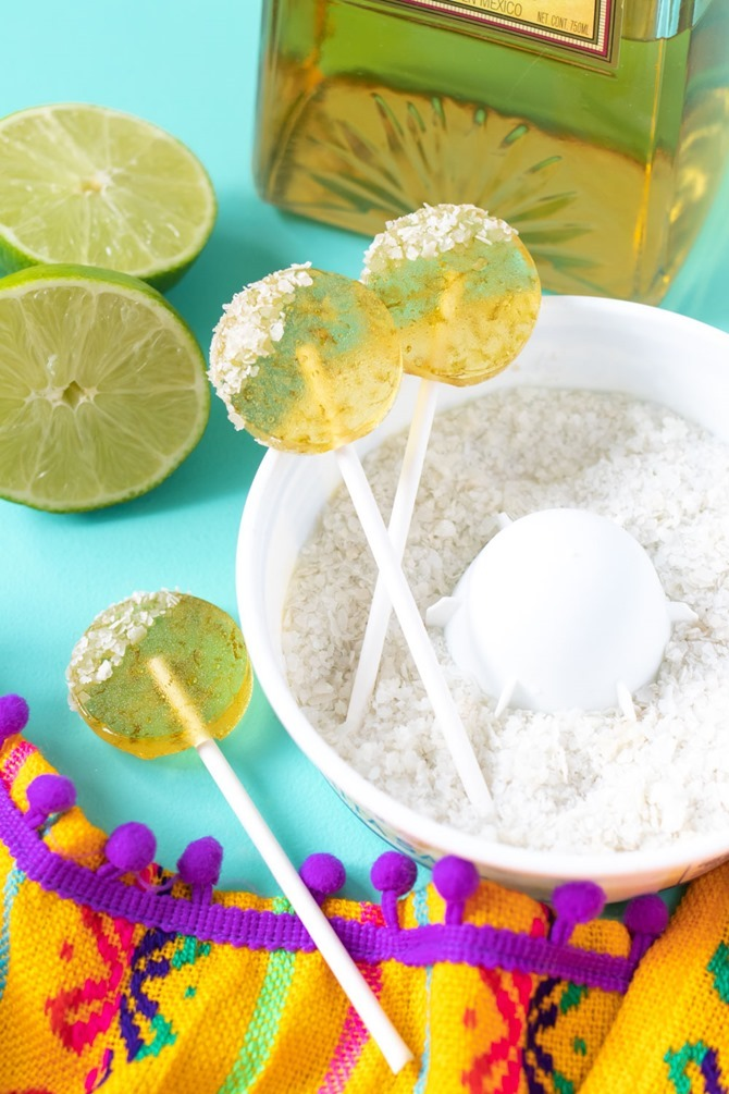Boozy Handmade Gifts - DIY Margarita Lollipops