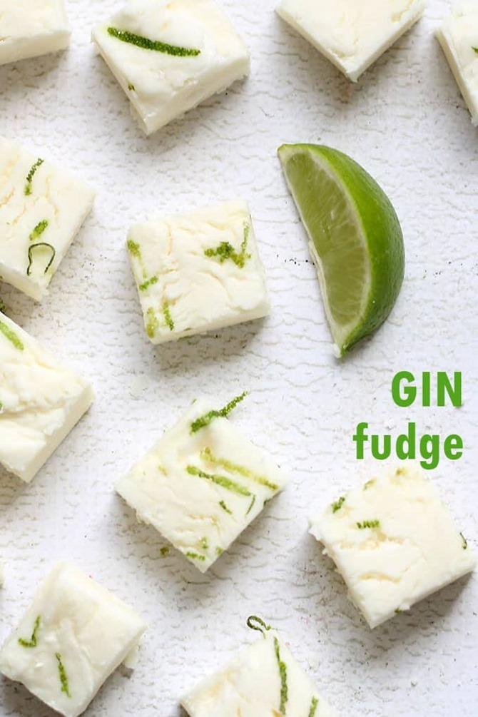 Boozy Handmade Gifts - Gin Fudge Recipe
