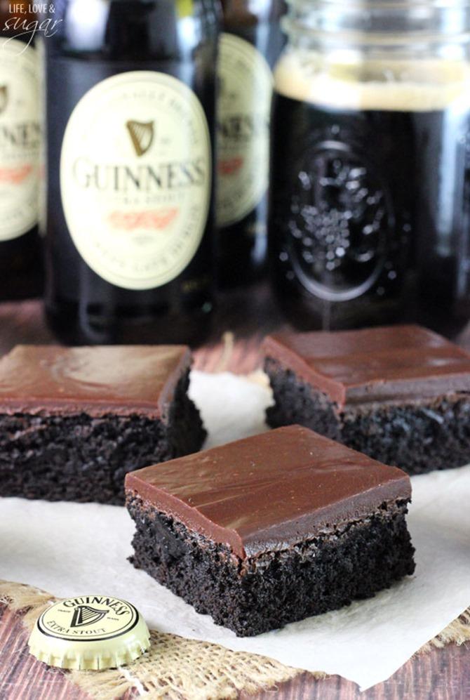 Boozy Handmade Gifts - Guinness Chocolate Brownie Recipe