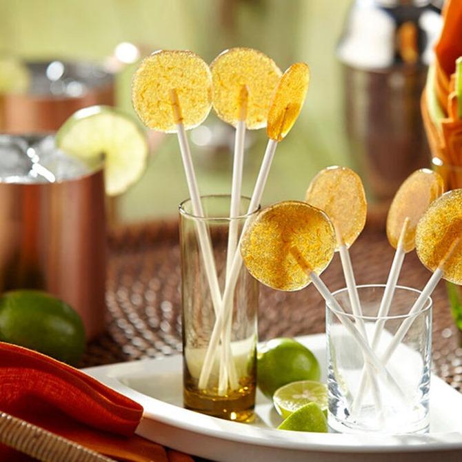 Boozy Handmade Gifts - Moscow Mule Lollipops