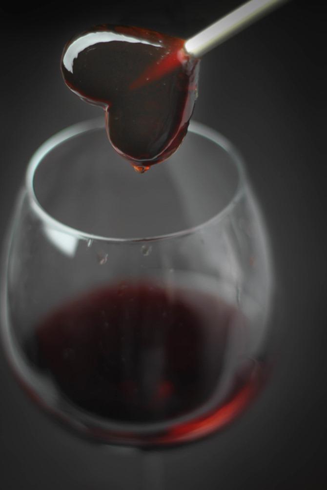 Boozy Handmade Gifts - Red Wine Lollipops
