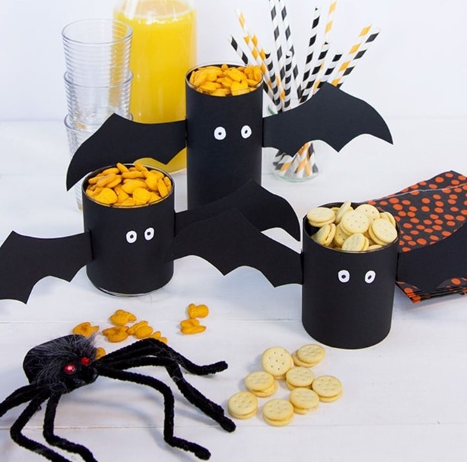 DIY Bat Decorations - Inspiration, Tutorials and Fun Ideas - Everything Etsy - Bat Cups