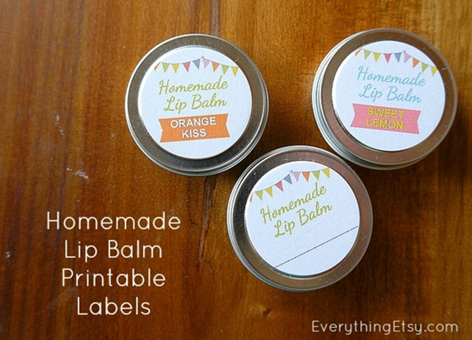 DIY Lip Balm Printable Labels on EverythingEtsy