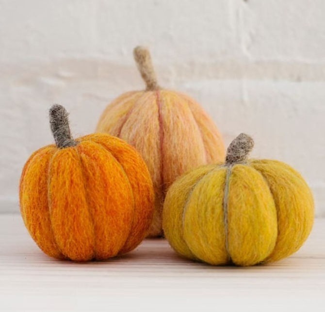 DIY Pumpkin Needle Felting for Beginners on Everything Etsy