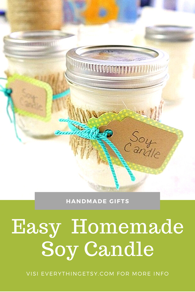 DIY Soy Candle - Easy Handmade Gifts - Everything Etsy