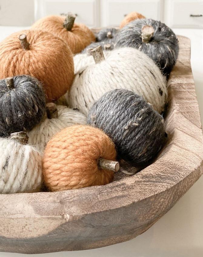 DIY Yarn Pumpkins - Easy Fall Craft Idea