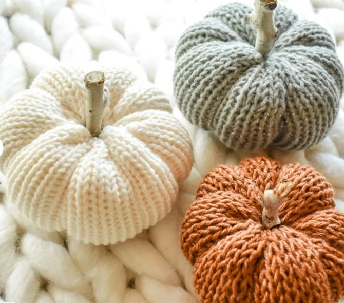 Fall Knit Pumpkins - Etsy FInds - Everything Etsy