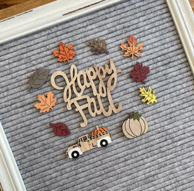 Fall Wood Letterboard Icon Set - Fall Etsy Finds - Everything Etsy