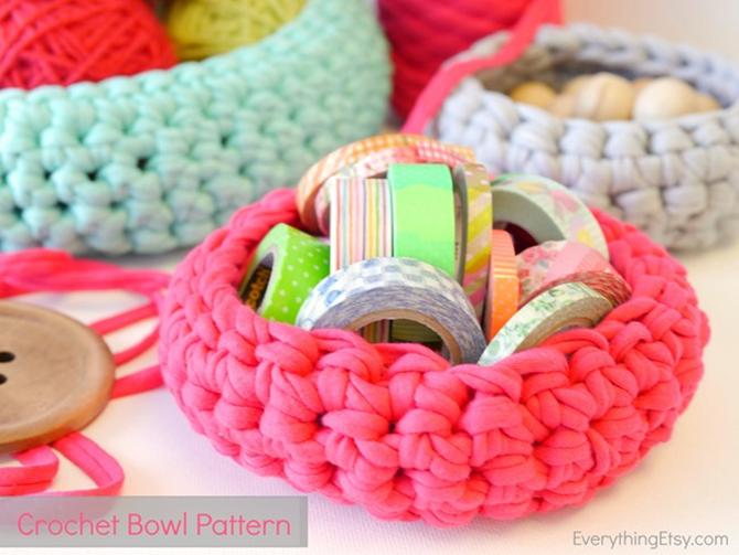 Free Crochet Chunky Basket Pattern on EverythingEtsy