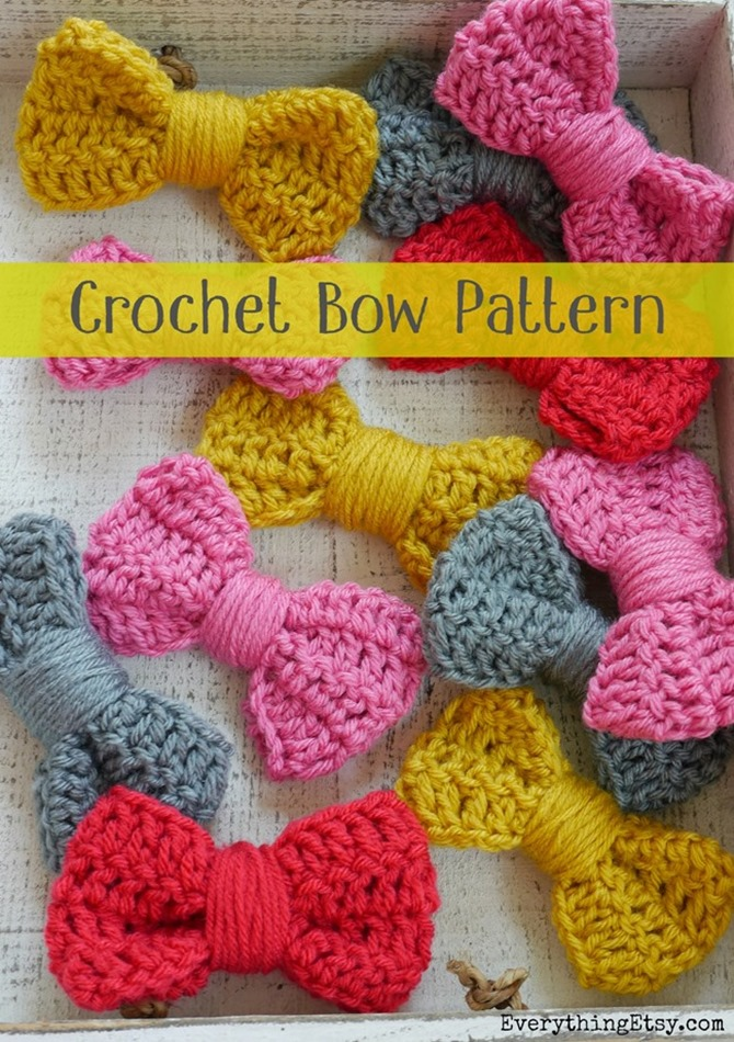 How to Crochet a Bow - Free Pattern on Everything Etsy