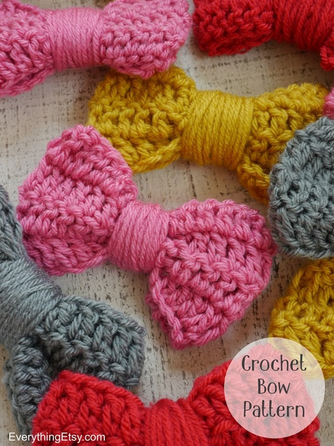 How to Crochet a Bow on Everything Etsy - Free Crochet Bow Pattern