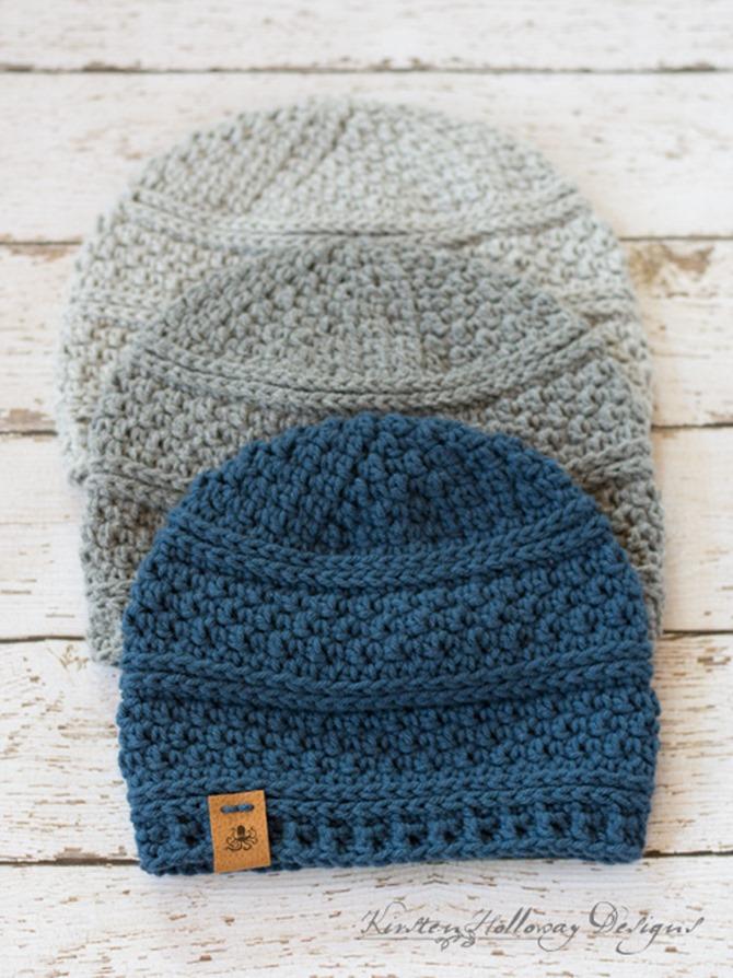 Quick Seed Stitch Crochet Hat Pattern - Free Design