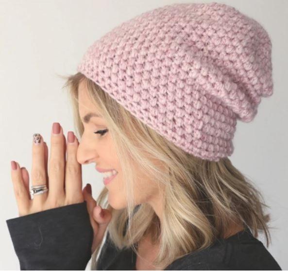 Quick Slouch Crochet Hat Pattern